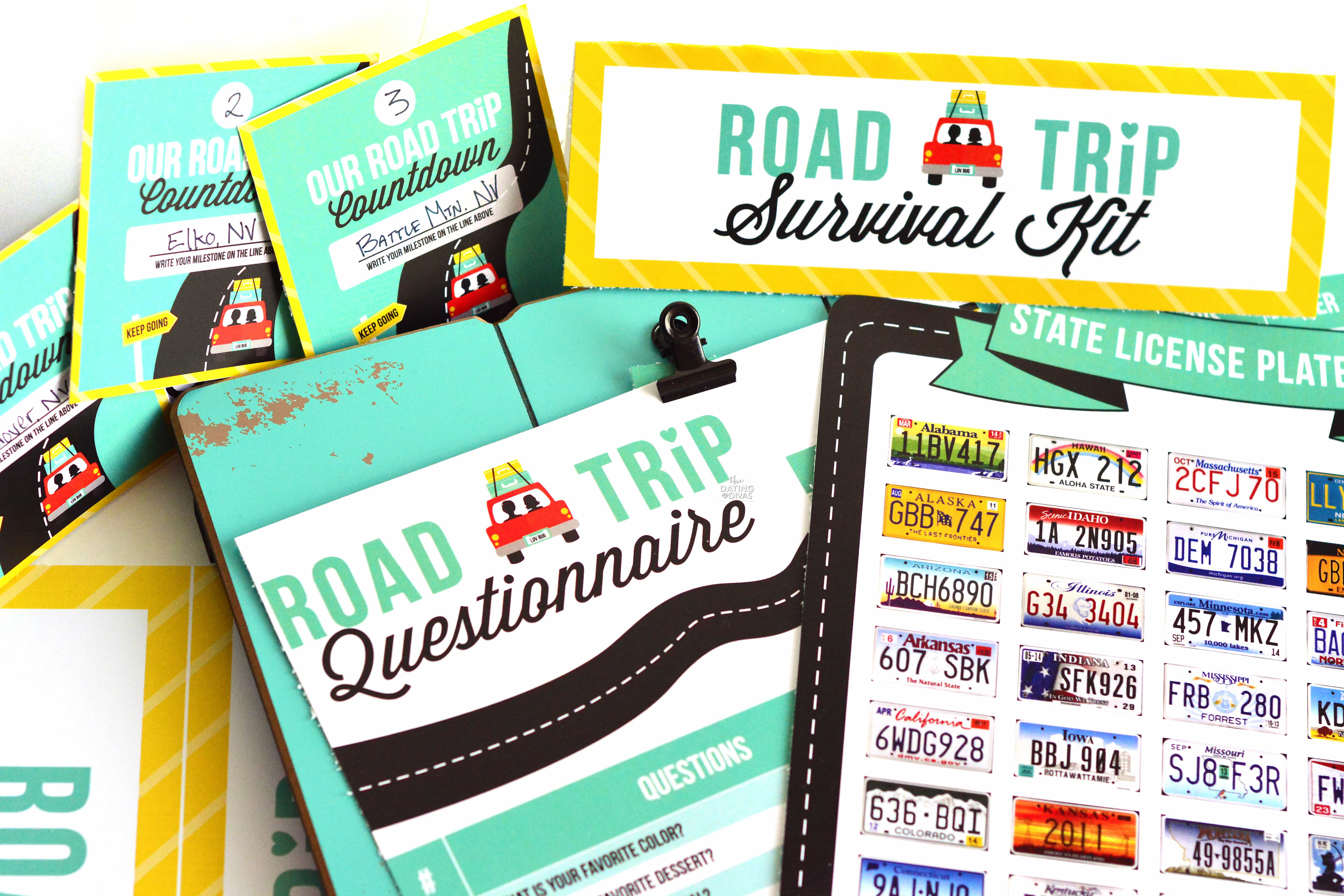 A FREE printable pack for your upcoming road trip.