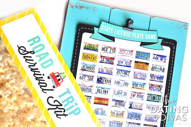 Printable license plate game.