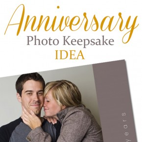 Anniversary photo keepsake gift idea.