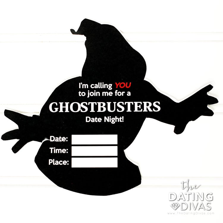 Ghostbusters Ghost Outline Invitation