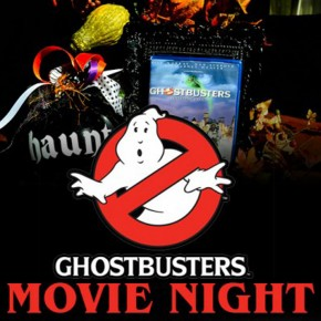 Ghostbusters Halloween themed movie date night idea.