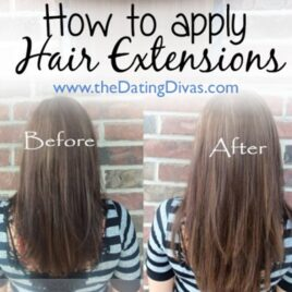 How to apply hair extensions.