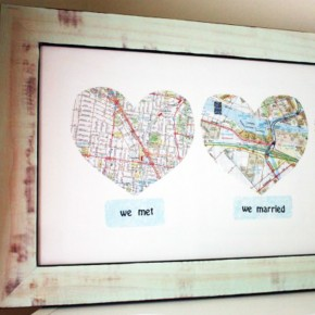Love Map - a DIY gift idea perfect for your next Anniversary.