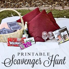 Scavenger Hunt printable date night at home.