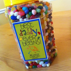 The Best Daddy jelly beans Father's Day gift idea. Free printables!