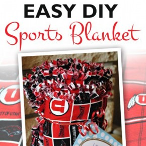 DIY NCAA or NFL sports blanket tutorial.