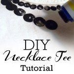 Necklace Tee Tutorial {My Own Road}