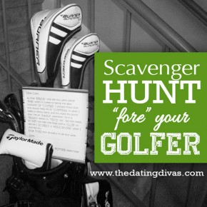 Fore De Golfer scavenger hunt date.