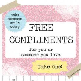 Free printable compliments take one.