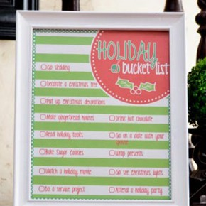 Holiday Bucket List including a free printable!