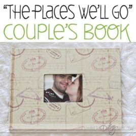 """""""The Places We Will Go"""" travel photo book keepsake gift."""