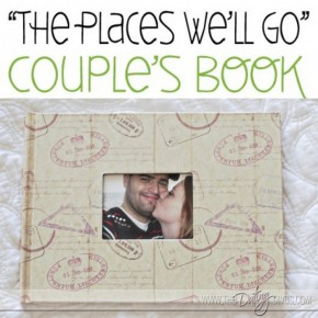 """The Places We Will Go"" travel photo book keepsake gift."