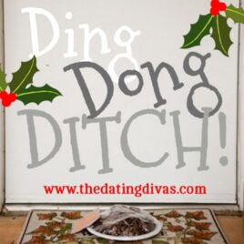 Christmas treat ding dong ditch idea.