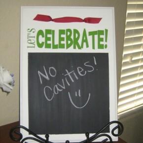 Let's Celebrate board - a diy gift idea.