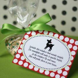 Reindeer Food treat printable tags.