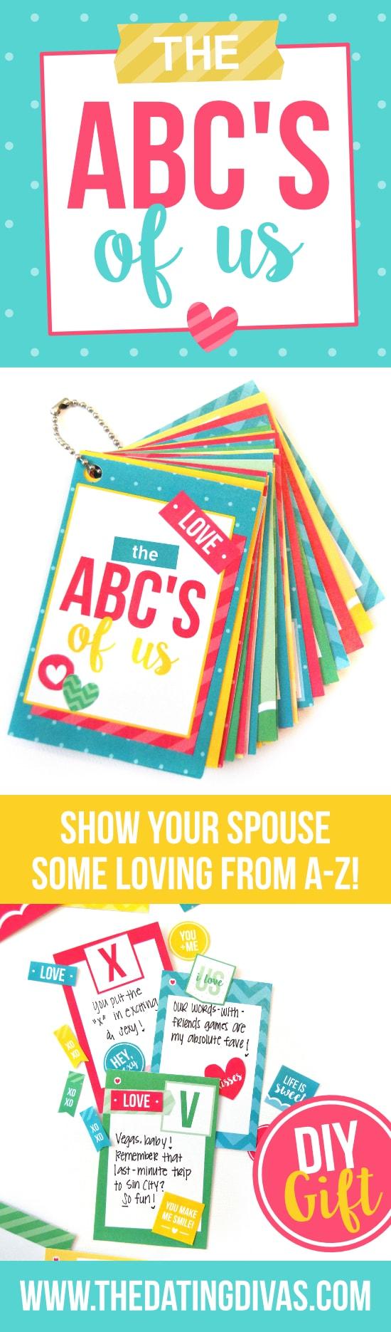 ABC's of Us DIY Gift