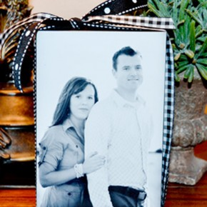 Couple's Photo Block DIY craft tutorial.