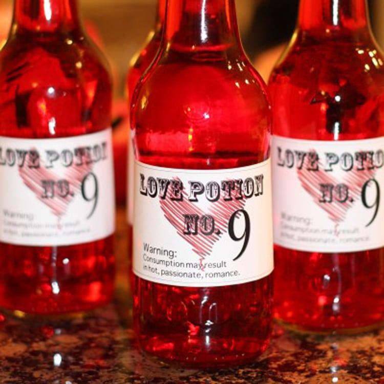 Love Potion Drink Labels
