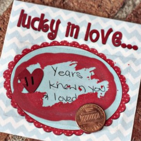 Lucky in Love scratch off tickets a darling Valentine's Day gift idea.