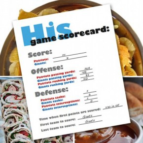 Super Bowl Super Date idea with printables.