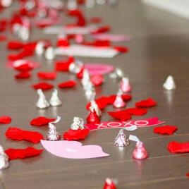 Valentines Day Surprise Kisses Trail