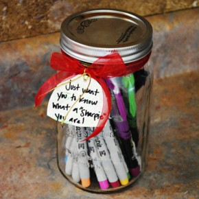 Can O' Sharpies - Teacher gift idea.