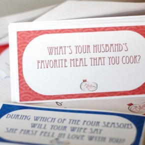The Newlywed Game printable game.
