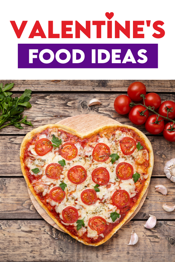 Heart-Shaped Pizza for Valentine's Day Dinner