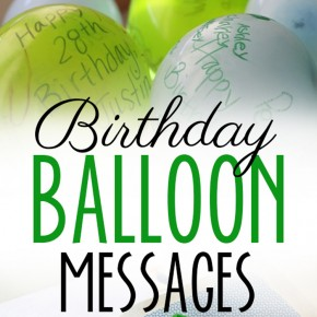 Birthday Balloons Messages
