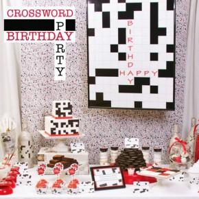 Birthday party themes - crossword idea