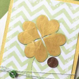 Shamrock Card - A St. Patrick's Day romance idea.