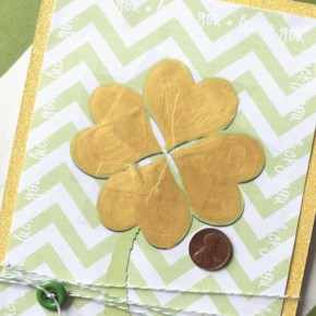 Shamrock Card - A St. Patrick's Day romance idea.