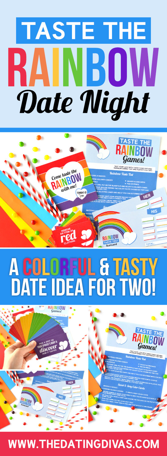 Taste the Rainbow Date Idea #dateideas #stpatricksday #rainbowdate