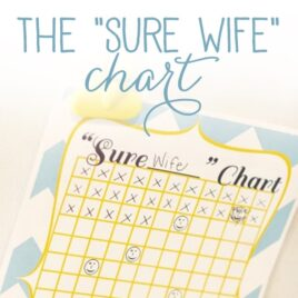 """The """"Sure"""" Wife Chart - marriage advice."""