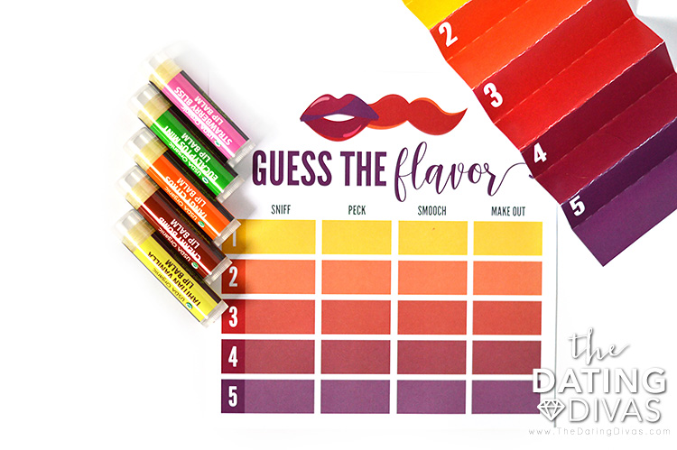 Sexy Kissing Game with Flavored Lip Balm