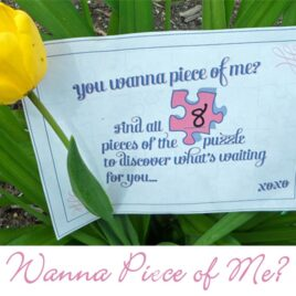 Wanna Piece of Me? Intimacy idea for the bedroom romance.