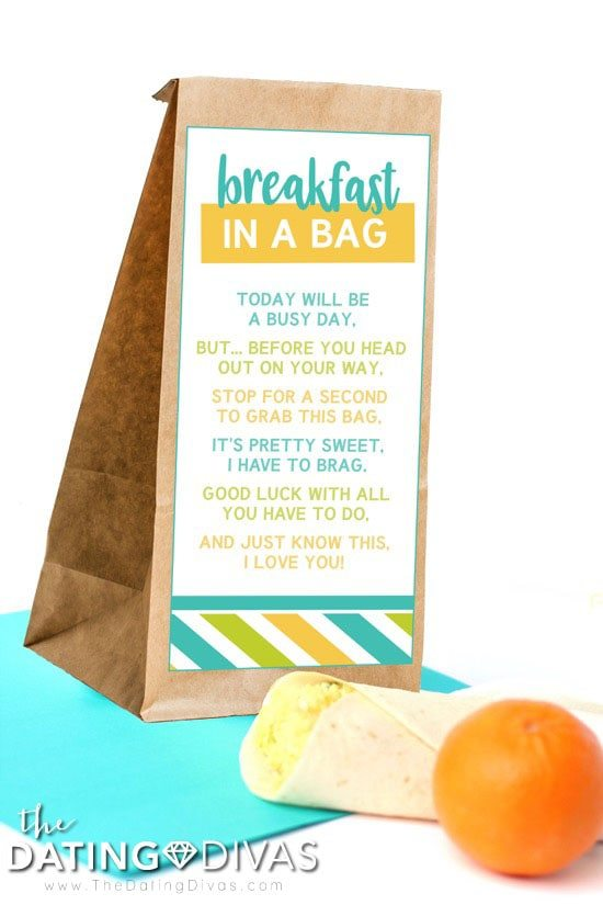 Breakfast in a Bag for Spouse
