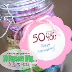 "The Perfect Anniversary Gift ""50 Reasons Why I Love You"""