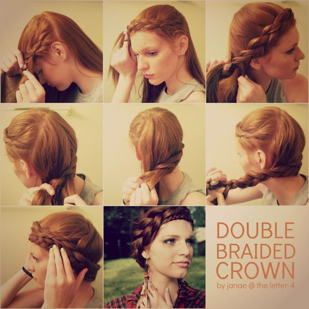 Double Braided Crown Hair Tutorial by Janae