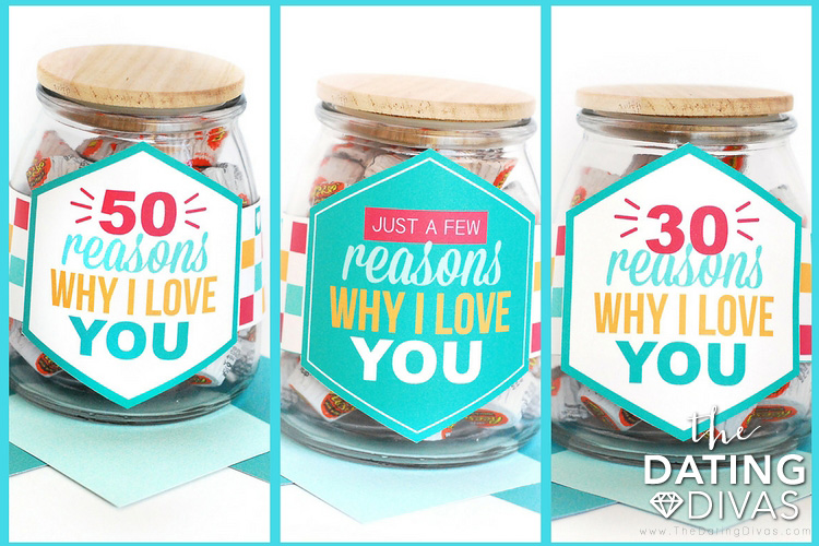Three Options for Reasons Why I Love You Jar