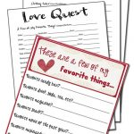 A Few of Our Favorite Things Questionnaires