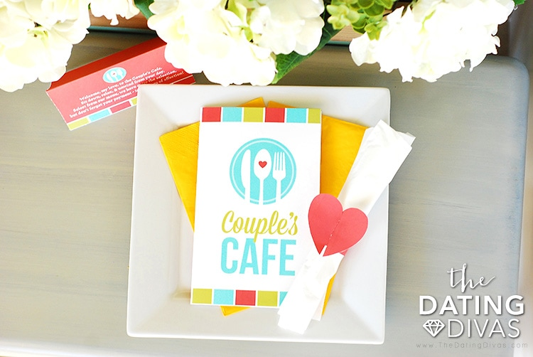 Couple's Cafe Dinner Date Place Setting