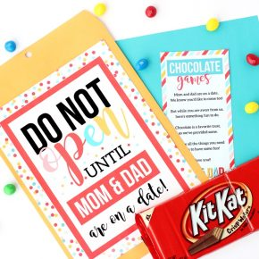Kid Date Night Envelope Chocolate Games