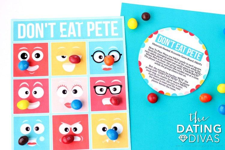 Kid Date Night Envelope Don't Eat Pete