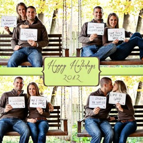 Signs for family photo