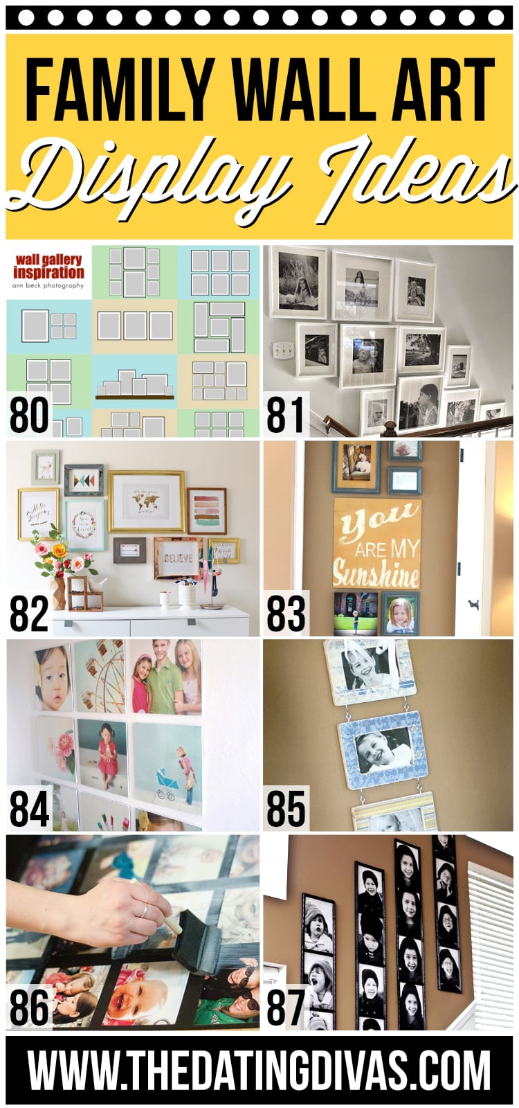 Family Wall Art Display Ideas