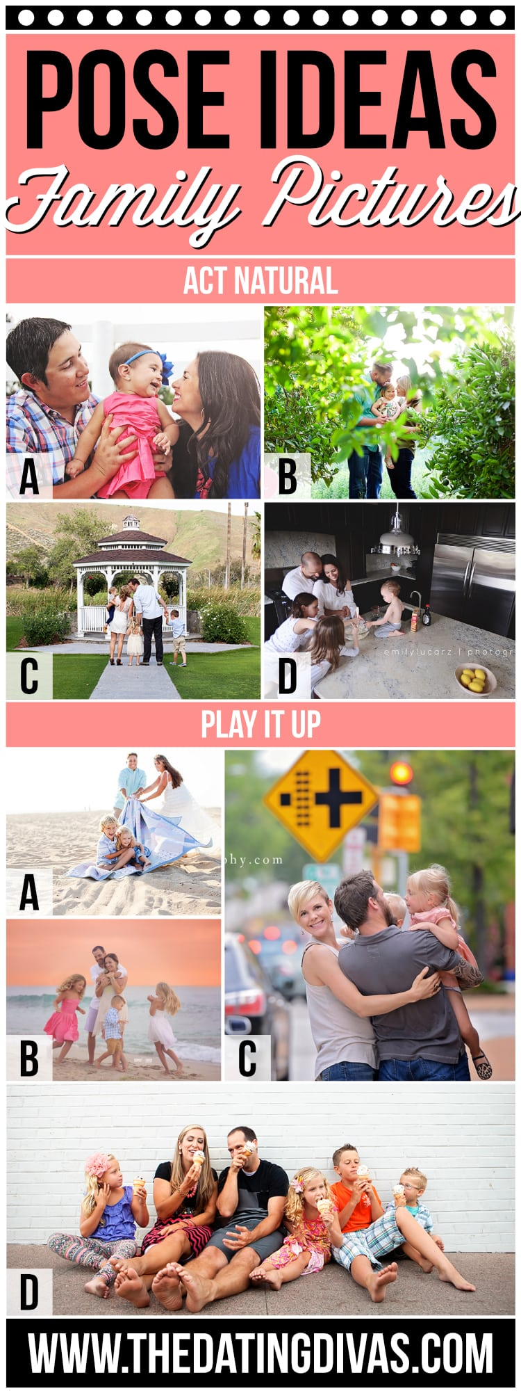 Fun Pose Ideas for Family Photos