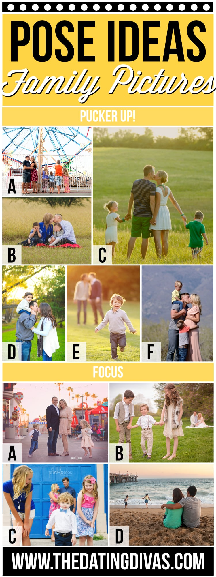 Pose Ideas for Fun Family Pictures