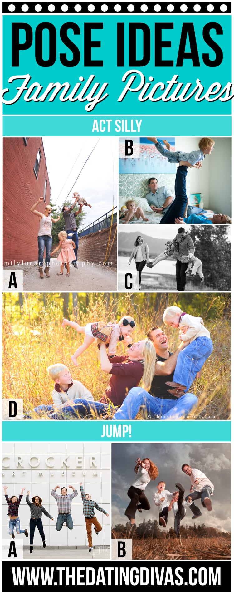 Family Picture Ideas - Silly Poses