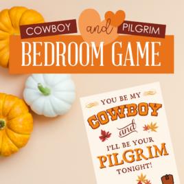 Cowboy and Pilgrim Bedroom Game Square